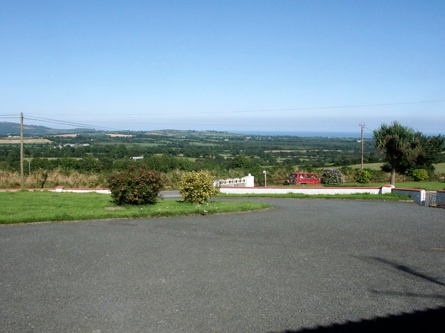 View towards the coast from the front of the property