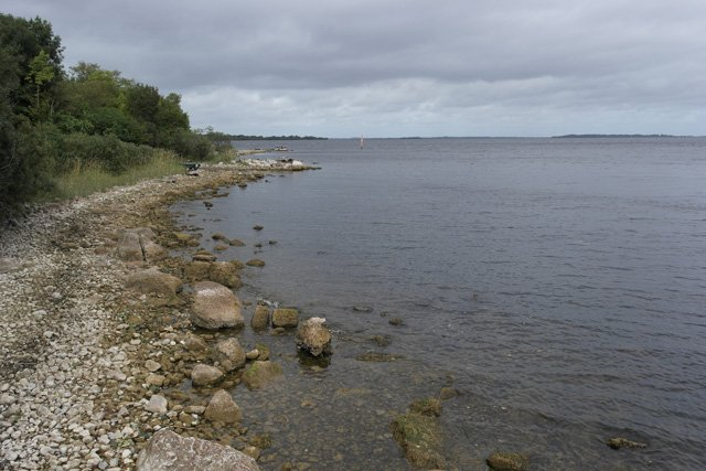 Lough Ree shoreline within a stone's throw of the property