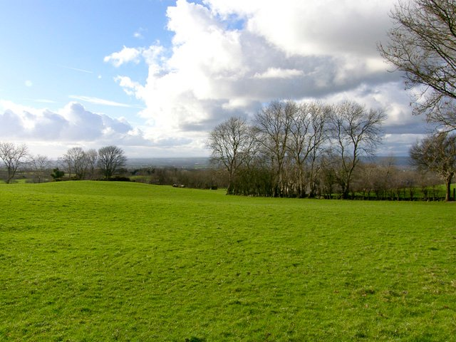 View across open countryside from the property