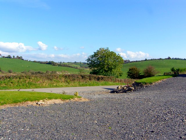 Views from the front of the house of rolling countryside