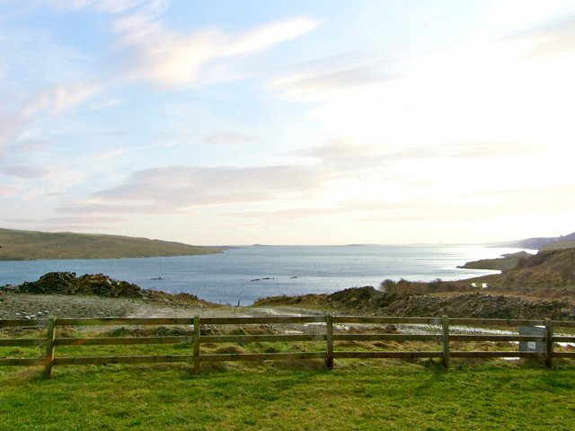 Views across Mulroy Bay from the property