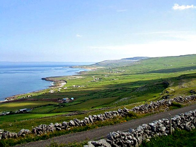 Views overlooking Fanore and Galway Bay from the property