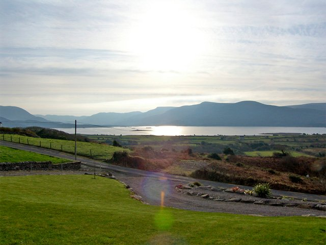 Lough Currane from the front of the property