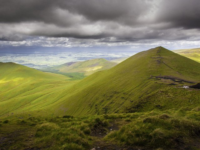 View from the summit of Galtymore