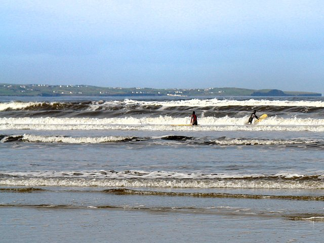 Surfing at Enniscrone