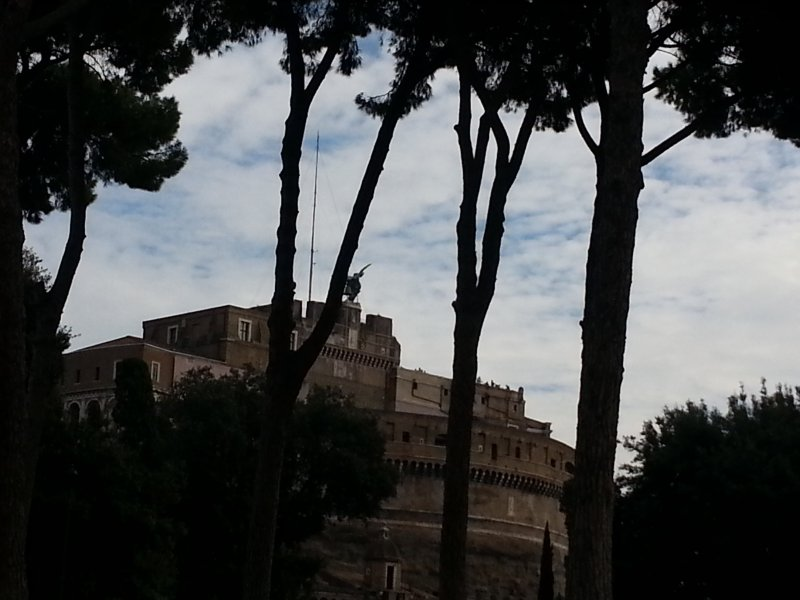 Castel Sant'Angelo among trees