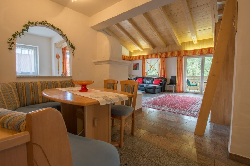 Dining area and spacious living area