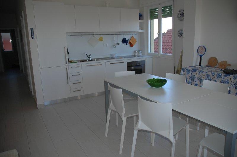 Salon-salle à manger avec coin cuisine