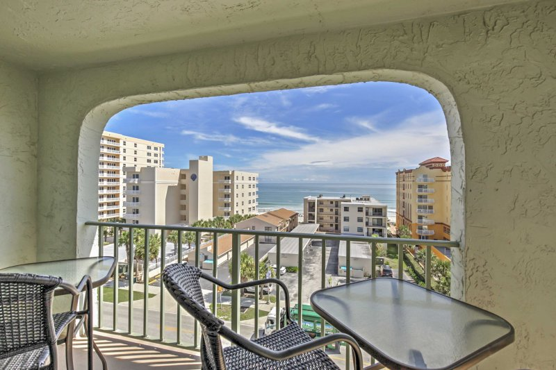 You'll never tire of those ocean views from the private balcony.
