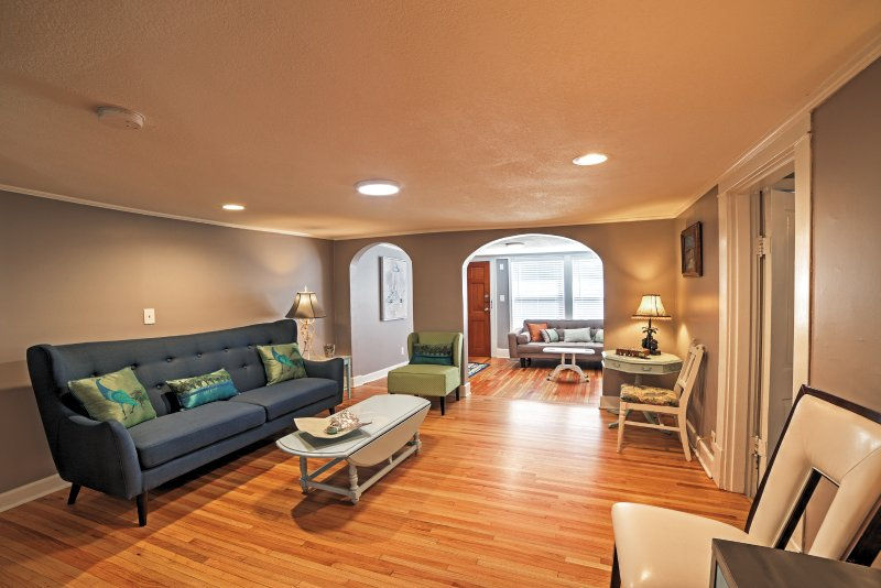 The open floor plan provides plenty of space to lounge around in the living area.