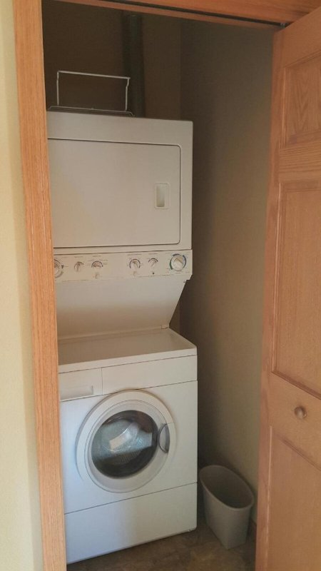 Washer and dryer on 2nd level