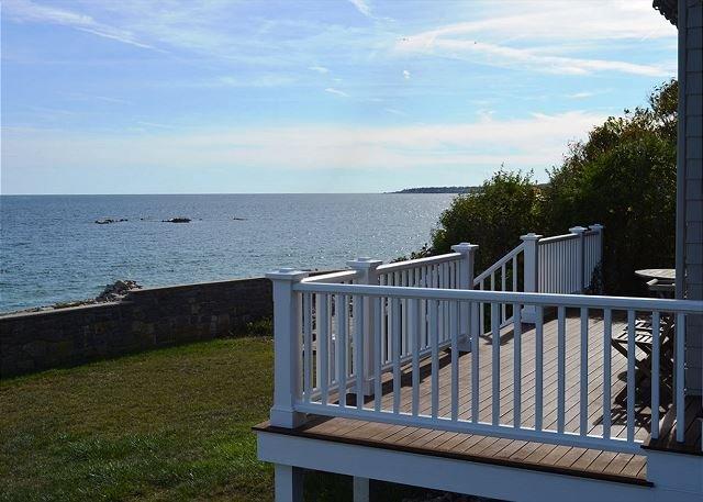 Back deck overlooking the ocean.