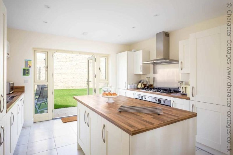 Fabulous modern kitchen, with French doors to the garden