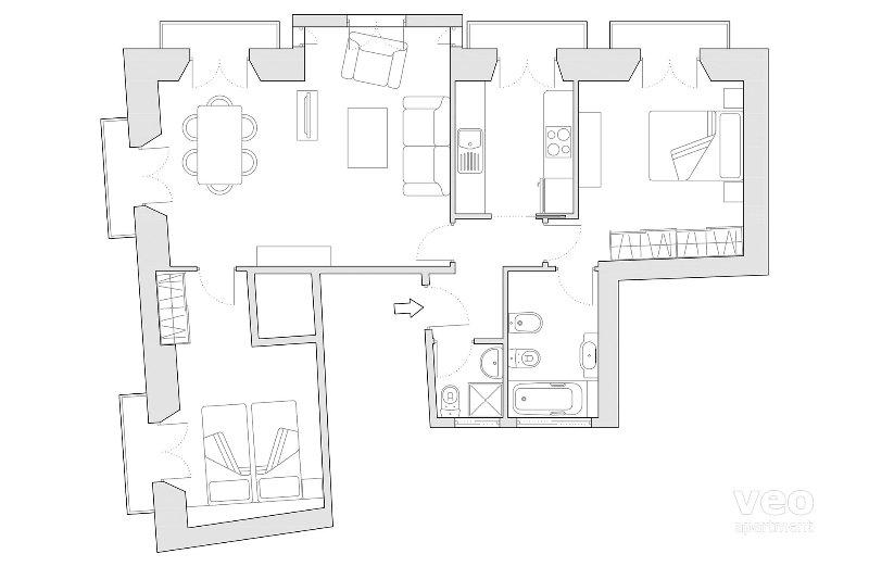 80m² | third floor | elevator