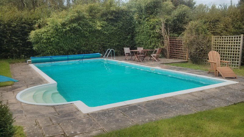 Sheltered heated (summer) swimming pool