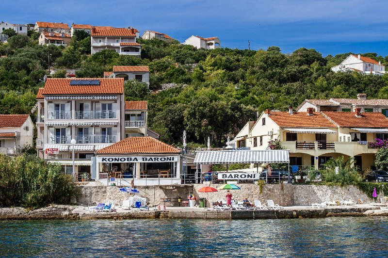 Apartment mit Pool in Dalmatien direkt am Meer, aluguéis de temporada em Iz