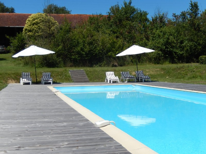 Large private swimming pool (5 x 20 meters)