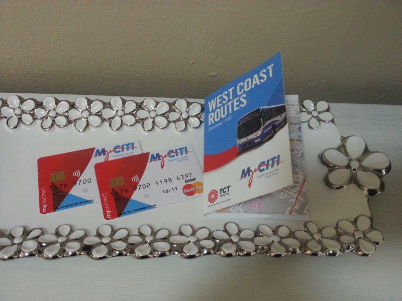 cartes MyCiti fournis; il vous suffit de charger la valeur. Arrêt de bus juste à l'extérieur de la propriété.