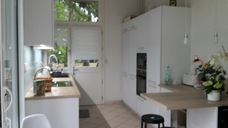 kitchen open to the living room
