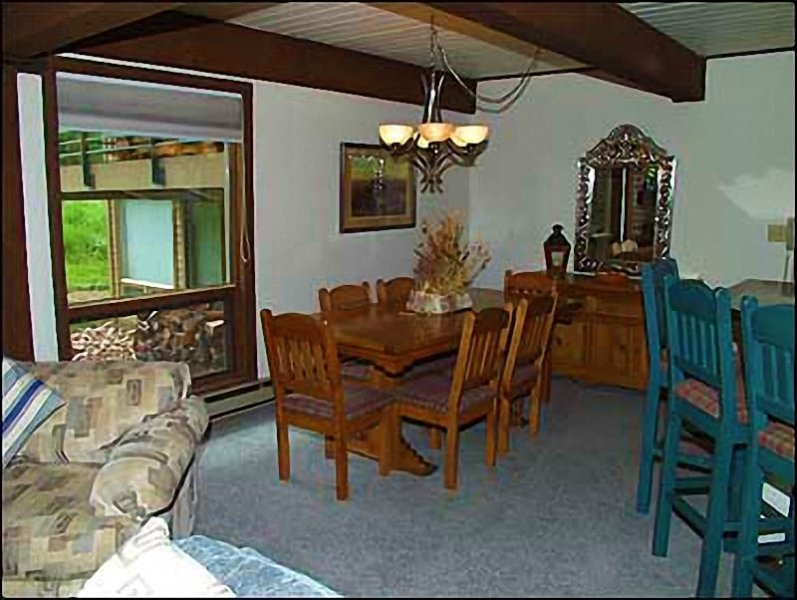 Comfortable dining area for 8