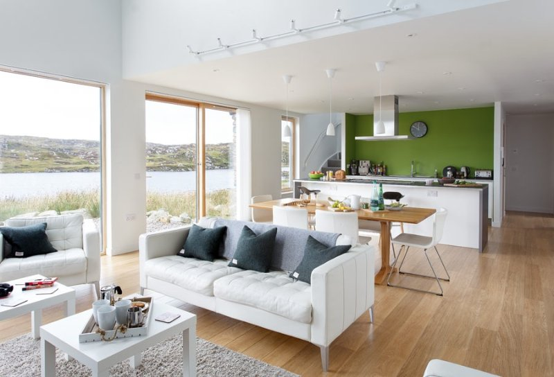 The open plan living area