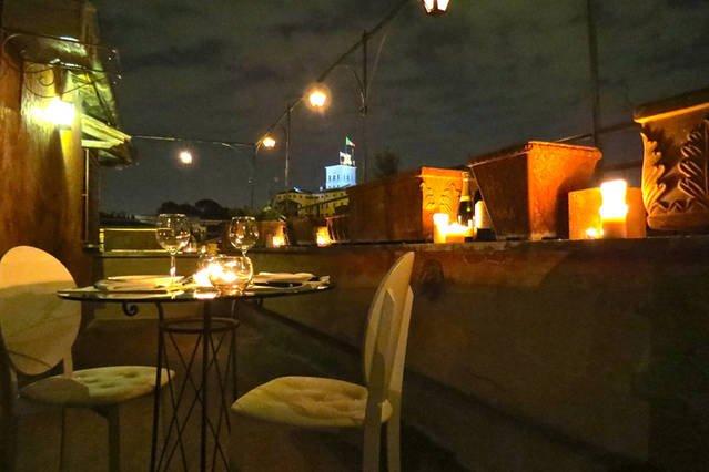 Panorama notturno dalla terrazza