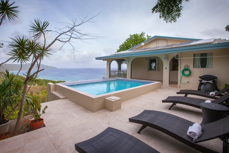 Beautiful ocean view from your private pool.