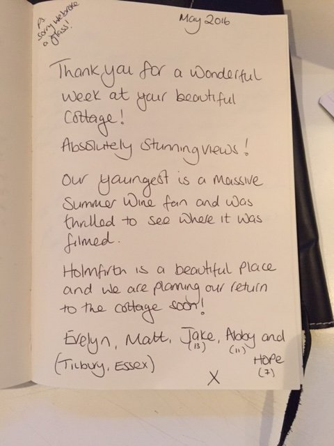 One of our many happy guest comments