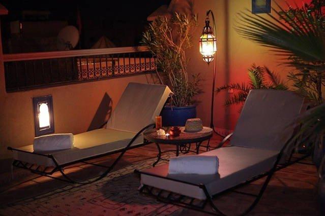 Deckchair on the terrace.