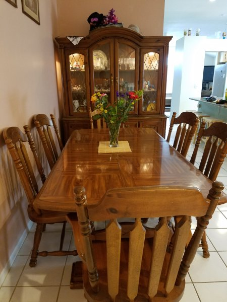 Formal dining area in open concept next to the kitchen