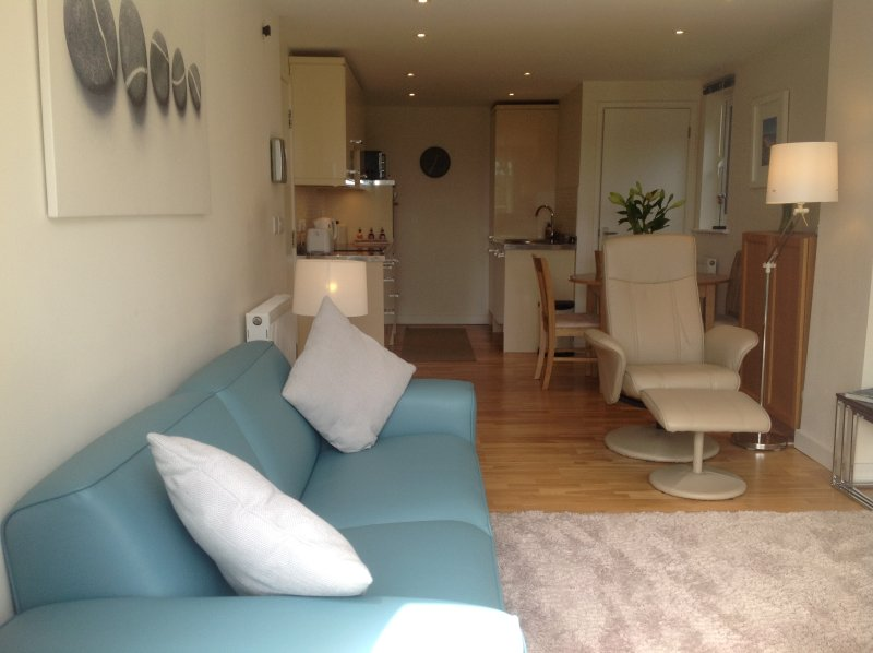 Lounge. 42inch TV. DVD. Stereo. Gas fire. Central heating. Patio doors leading to balcony.