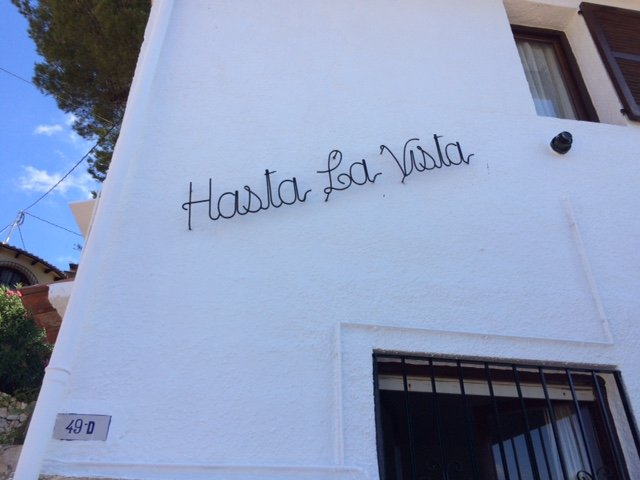 Hasta la Vista is the name of our family villa. It sleeps up to eight people and is in a quiet spot.