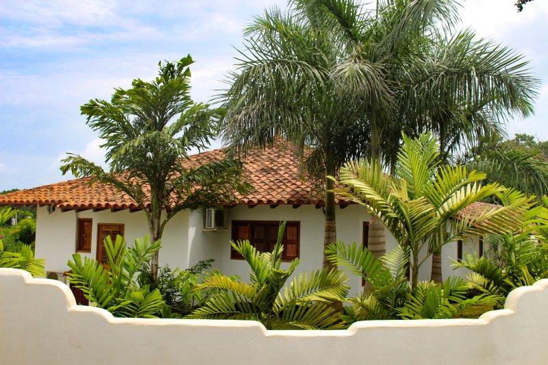 Su paraíso tropical rodeado de hermosas palmeras!