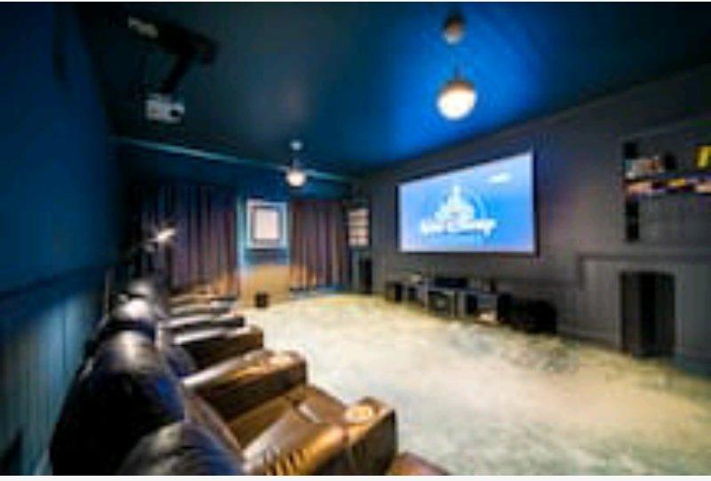 Enjoy a movie in the cinema room