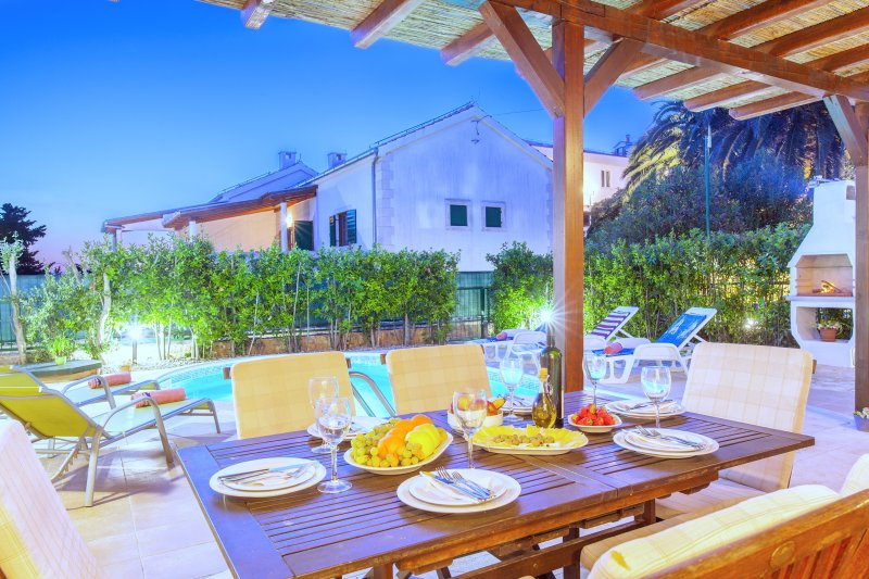 Terrace, outdoor furniture, Villa Cvita, Hvar, Island Hvar