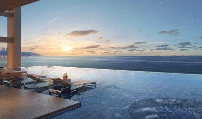 cielo de la piscina