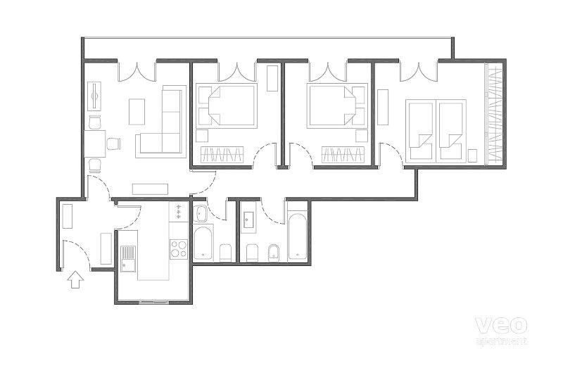 90m²   first floor   elevator