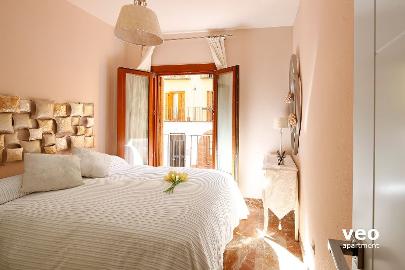 Bedroom 1 with double bed (135 x 200 cm). There are 3 bedrooms for 6 guests.