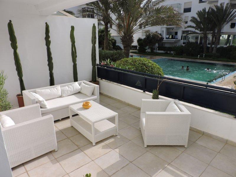 terras loft tuin met uitzicht op zee, met een oppervlakte van 20 m2 met luxe meubilair