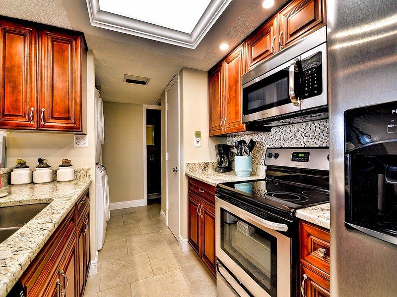 La cocina tiene todas las comodidades y el confort del hogar.