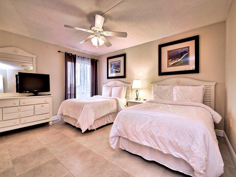Habitación tiene 2 camas matrimoniales