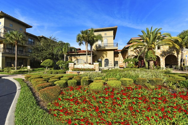 Building, Hacienda, Garden, High Rise, Palm Tree