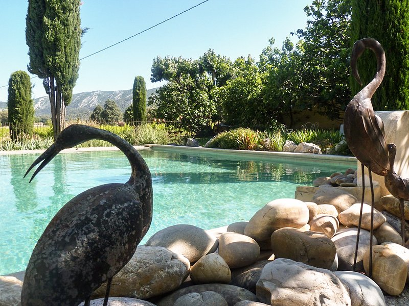 Amazing house with shared pool, location de vacances à Oppède
