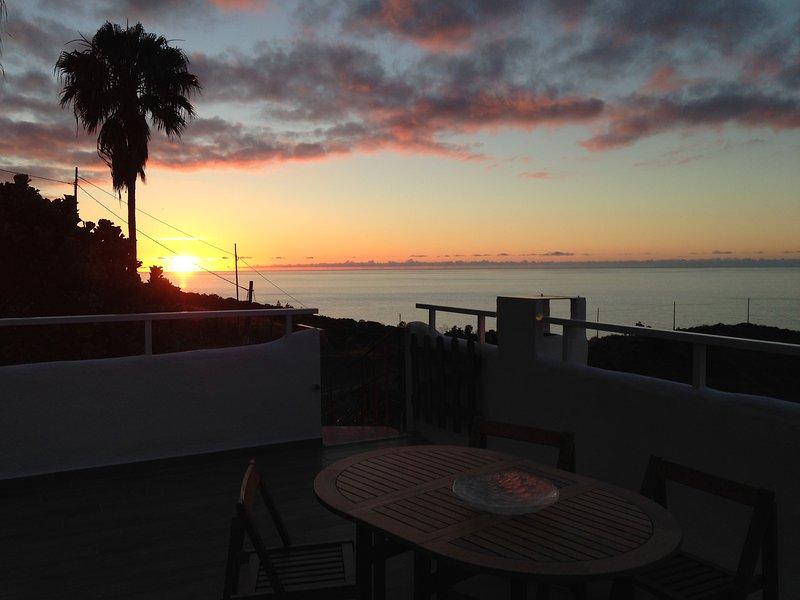 Sonnenuntergang von privaten Dachterrasse