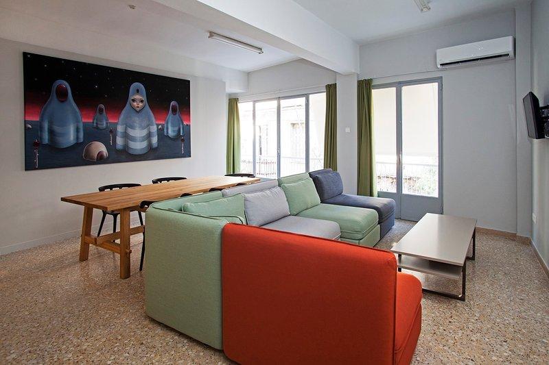 Apt CT3 - Sala de estar y acceso directo a la terraza