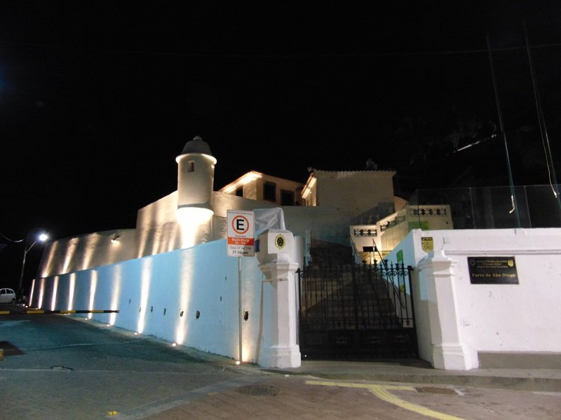Fort nextdoor at night