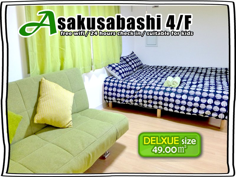 4/F SUPER BIG FOR 4-7ppl ! TWO DELUXE TWIN ROOM, casa vacanza a Shikoku