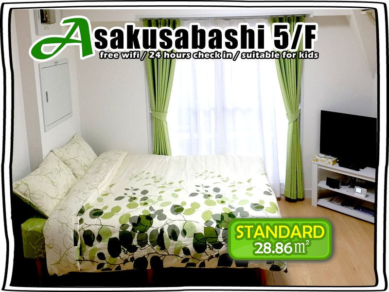 5/F BEST VIEW! BRIGHT ROOM FOR 4!, casa vacanza a Shikoku