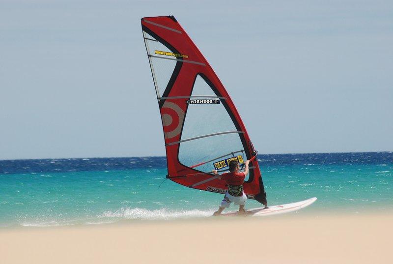 Windsurfing. Corralejo.
