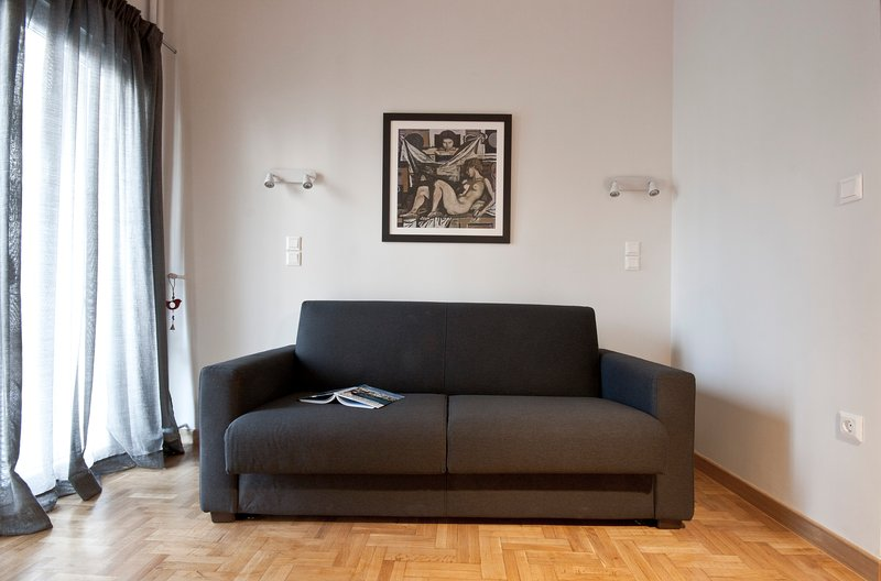 The sofa can easily turn into a double bed